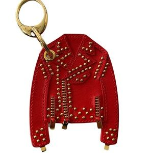 ❤️❤️❤️Versace red leather bag charm ❤️❤️❤️